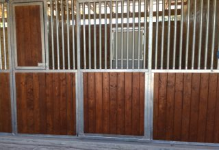 Stalls & Pens - Horse Stall Front with Hardwood Paneling