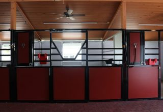 Stalls & Pens - Red and Black Horse Stall Fronts