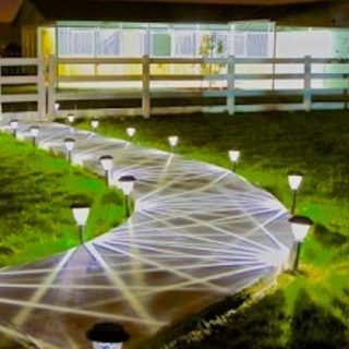 Shed-Row Barn with Lighted Walkway