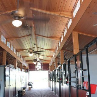 Ceiling inside an RCA Barn with Horse Stalls